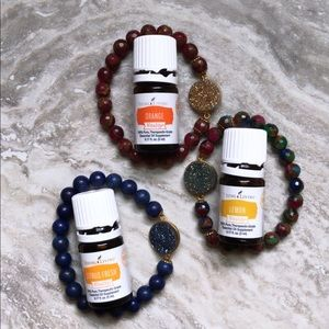 Young Living Jewelry - Natural Stone Diffuser Bracelet with 1ml Sample